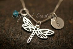 Hand Stamped Mini Initial Sterling Silver by SayWhatCreations, $40.00