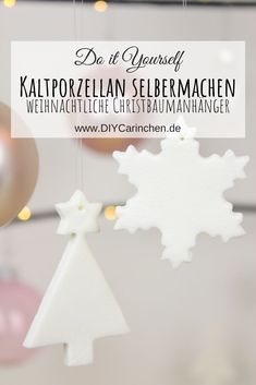 DIY – Christmas tree tags made of cold porcelain just make yourself - Weihnachten Clay Christmas Decorations, Diy Christmas Tree, Xmas Crafts, Diy And Crafts, Homemade Christmas Gifts, Polymer Clay Crafts, Cold Porcelain, Christmas Inspiration, Diy Party