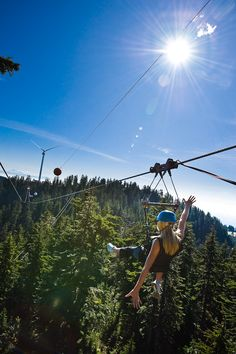 Nothing like Ziplining on a gorgeous sunny day.  Only at Grouse Mountain, Vancouver.