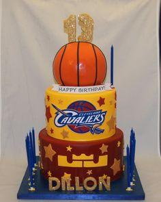 Cleveland Cavaliers 13th birthday cake