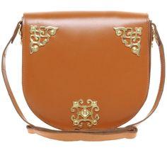 ASOS Leather Ornate Saddle Bag ($75) ❤ liked on Polyvore