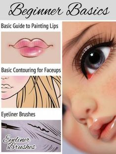 I started waffling about how I do faceups in case it helps anyone. You find these tutorials on my main site {HERE} I'll keep adding more as I think of them, feel free to make requests! BJD Ball Jointed Doll Face Up Tutorial Face Painting Instruction Doll Face Paint, Doll Painting, Clay Dolls, Bjd Dolls, Diy Reborn Dolls, Doll Crafts, Diy Doll, Doll Making Tutorials, Painting Tutorials