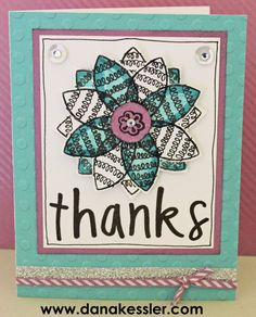 Thank You Card Floral What A Hoot CTMH #scraptabulousdesigns #ctmh #cards