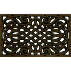 WROUGHT IRON COFFEE --- Solid neutral colors to compliment any décor, these heavy weight molded rubber mats provide an amazing scraping surface that repels water for great traction in all weather