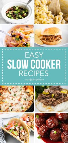 The perfect hands-free way to cook flavorful meals. When life gets hectic, let one of these easy slow cooker recipes do the work for you. #slowcooker #slowcookerrecipes #slowcooking #slowcookerdinners #slowcookermeals #crockpot #crockpotrecipes #crockpotdinners #crockpotmeals #easydinners #easyrecipes #recipes #iheartnaptime