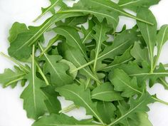 Rucola/ Arugula. The best is the one from Italy, very tasty and a little bit spicy. Delicious aromatic green..