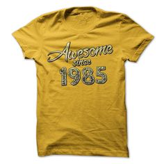 Awesome since 1985 T-Shirts, Hoodies. CHECK PRICE ==► https://www.sunfrog.com/Birth-Years/Awesome-since-1985-7169916-Guys.html?id=41382