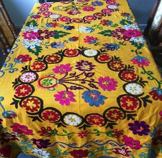 - Uzbek Silk Handmade Suzanis give us an opportunity to have an insight into the old culture and traditions of this land. Such works of Art were prepared and used for ceremonial functions like wedding