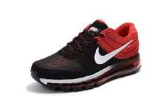 Online Nike Air Max 2017 Black Red White for Men Cheap Price - $69.88