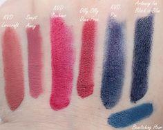 Limnit Lipsticks Review and comparison to Kat Von D