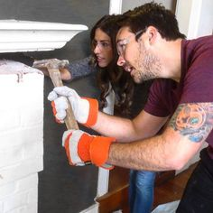 This couple gets #handson with the reno in tomorrow night's #allnew episode of #HouseHuntersRenovation! Watch them on @hgtv gonorrhea night at 10pm!. . . . . . . .  #construction #onset #production #socal #california #fixerupper #realitytv #reality #bts #behindthescenes #hgtv #pietown #premiere #productionstill #homerenovation #homebuyer #couple #tomorrow
