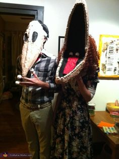 Barbara and Adam Maitland from Beetlejuice - homemade Halloween costume-chuck would love this