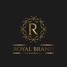 Logo Luxury with Golden Color Premium Vector Wedding Background, Background Banner, Luxury Logo Design, Graphic Design, Logo Royal, Style Alphabet, Identity, Golden Logo, Elegant Logo