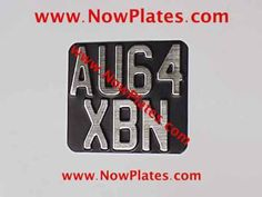 1-x-Vintage-Pressed-Motorcycle-Number-Plate-Brushed-Chrome-Faced-140mmX120mm