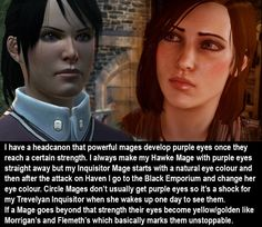 Dragon Age Confessions - CONFESSION: I have a headcanon that powerful...