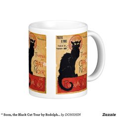 """ Soon, the Black Cat Tour by Rodolphe Salis "" ベーシックホワイトマグカップ"