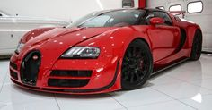 Wicked Red On Red Bugatti Veyron Is A French Hypercar Oddity #Bugatti #Bugatti_Veyron