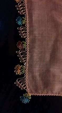 Needle lace Source by birselbal Crochet Borders, Filet Crochet, Knit Crochet, Baby Knitting Patterns, Crochet Patterns, Needle Lace, Bobbin Lace, Crochet Unique, Point Lace