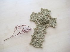 Cross Wall Cross handmade home decor  Cross by BoryanacrochetBG