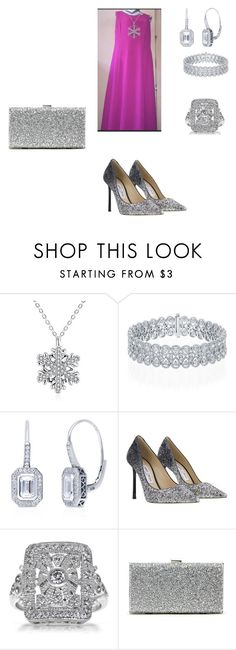 """Pink & Silver"" by quasia-taylor on Polyvore featuring BERRICLE, Jimmy Choo and Sole Society"