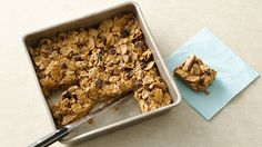 Betty Crocker's Heart Healthy Cookbook shares a recipe! Total® Raisin Bran cereal provides a simple addition to homemade nutty raisin bars. Perfect for an on-the-go breakfast!