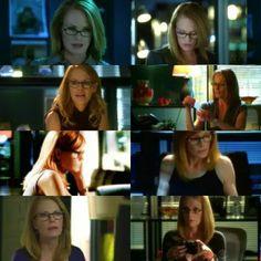 Catherine in her glasses appreciation.