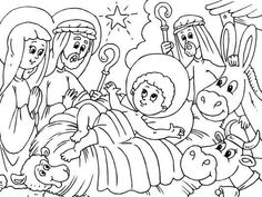 Christmas Coloring Pages Jesus Mary And Joseph
