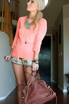 Outfit Of The Day: Coral + Floral   t h e (c h l o e) c o n s p i r a c y : fashion + life + style