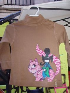 ropa pintada a mano camiseta pintura textil pincel