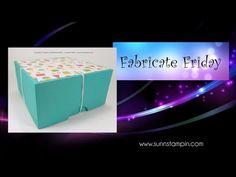 Fabricate Friday – Bakers Box | SuNN Stampin'