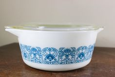 Hey, I found this really awesome Etsy listing at https://www.etsy.com/listing/237150027/pyrex-blue-horizon-casserole-dish-with