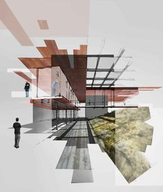 Result of the collage architecture, visualization . - Result of the collage architecture, visualization architecture - Perspective Architecture, Collage Architecture, Architecture Sketches, Architecture Visualization, Architecture Graphics, Architecture Board, Landscape Architecture, Architecture Design, Architecture Illustrations
