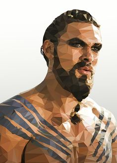 Low-Poly Portrait Illustrations for Inspiration - 8 #lowpoly #illustration #lowpolyportrait