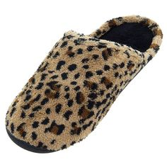 Isotoner Womens Brown Cheetah Slippers >>> For more information, visit now at Women's Shoes board