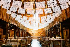 Bunting Banners Flags White Paper / http://www.deerpearlflowers.com/unique-bunting-wedding-ideas/2/