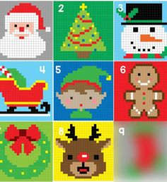 ChristmasCharactersGraph_Square8