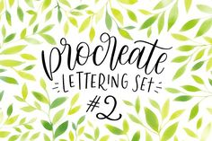Procreate Lettering Brushes Set #2 by Ray of Light Design on @creativemarket