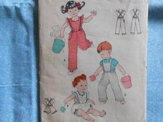 Vintage Sewing Pattern Butterick 7405 Toddlers  Ruffled Romper- Cover All