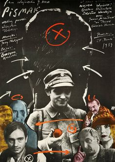 """Movie poster for Polish film """"Pismak"""" directed by Wojciech Has. Poster designed by Andrzej Pagowski, 1984."""