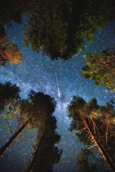 Shooting star in Edsbyn, Sweden...