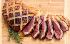 Seared Duck Breast With Honey,Orange, and Thyme