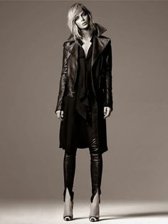 Danielle Knudson by Greg Swales for Dress to Kill - Primary leather jacket and leggings