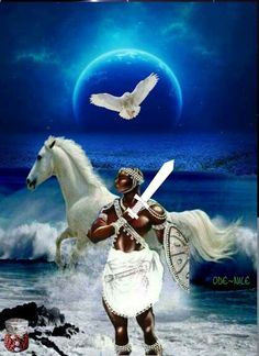 Obatala by Ode Nile fb post African American Art, African Art, Epa Baba, Shango Orisha, Oshun Goddess, Yoruba Orishas, African Mythology, Black Anime Characters, Mythical Creatures Art