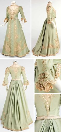 Promenade dress, American, ca. 1903. Wool and silk. Metropolitan Museum of Art