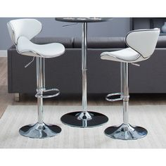 Castleton Home Castleton Home Oxbow Estate Airlift Barstool in White