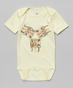 This Yellow Catriangle Bodysuit - Infant by WOWCH is perfect! #zulilyfinds