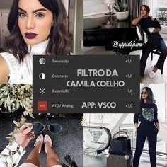 Filtro da @camilacoelho ❤️ ela usa a opção branquear do FaceTune, quem deve estar aqui amanhã?