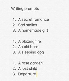 Writing prompts -kitty_ella Writing prompts inspired by Poldark Visit kitty_ella 's board for more prompts Writing Inspiration Prompts, Writing Lyrics, Writing Prompts For Writers, Book Writing Tips, Creative Writing Prompts, Writing Words, Poetry Prompts, Writing Ideas, Music Writing