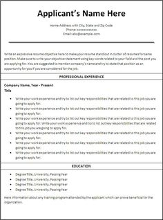 free printable resume templates httptopresumeinfofree printable