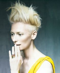 Tilda Swinton by Paolo Roversi for Pomellato